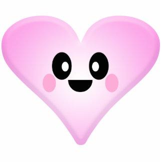 Kawaii Cute Valentine Heart Standing Photo Sculpture