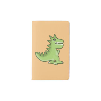 Kawaii Dinosaur Pocket Moleskine Notebook