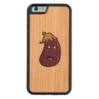 Kawaii eggplant carved cherry iPhone 6 bumper case