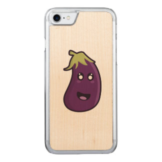 Kawaii eggplant carved iPhone 8/7 case