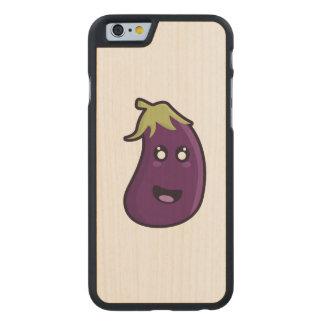 Kawaii eggplant carved® maple iPhone 6 slim case