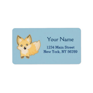 Kawaii Fox Label