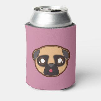 Kawaii funny pug bottle cooler