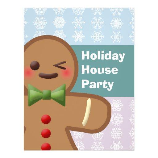 Kawaii Gingerbread Man & Snowflakes Flyers