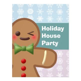 Kawaii Gingerbread Man Snowflakes Flyers
