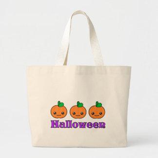 Kawaii Halloween Pumpkins Tote Bag