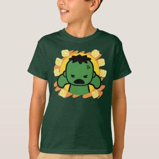 Kawaii Hulk With Marvel Hero Icons T-Shirt