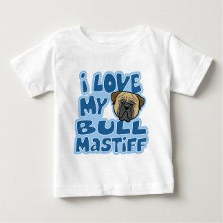 Kawaii I Love My Bullmastiff Baby T-Shirt