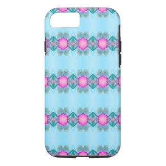 Kawaii Kaleidoscope Art Simple Blue Pink iPhone 8/7 Case