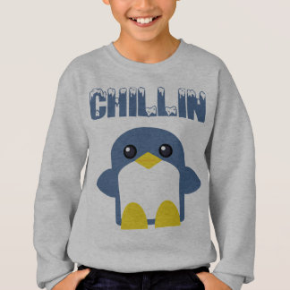 kawaii kids penguin chillin sweety tweety sweatshirt