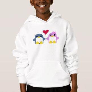 kawaii kids penguins love sweety tweety hoodie