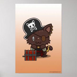 Kawaii Kitty (Pirate) Posters