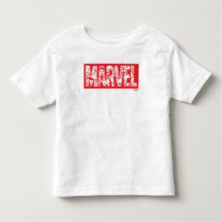 Kawaii Marvel Logo With Super Hero Pattern Toddler T-Shirt