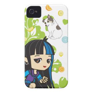 Kawaii Mika the Punk Girl Chibi 9700/9780 iPhone 4 Case