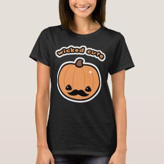 Kawaii Mustache Pumpkin T-Shirt