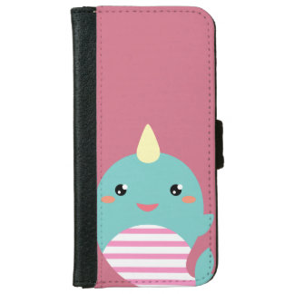 Kawaii Narwhal iPhone 6 Wallet Case