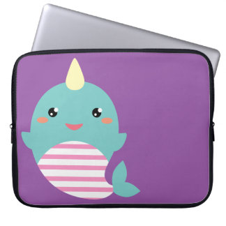 Kawaii Narwhal Laptop Sleeve