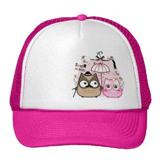 Kawaii owl couple cap