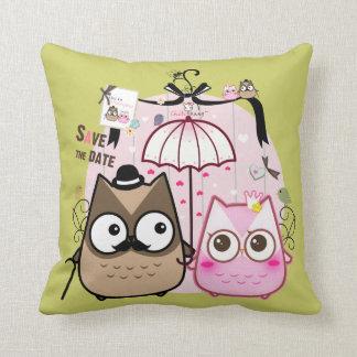 Kawaii owl couple pillows