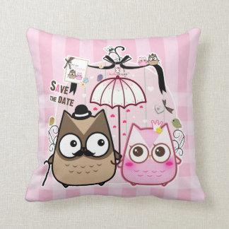 Kawaii owl couple cushions