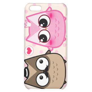 Kawaii owl couple iPhone 5C cover