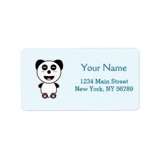 Kawaii Panda Address Label