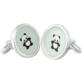 Kawaii panda cuff links