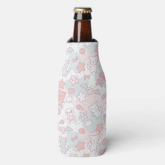 kawaii pattern with doodle bottle cooler