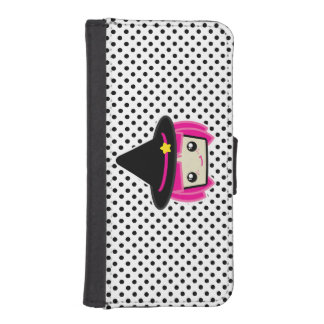 Kawaii Pink Haired Witch iPhone Wallet Case