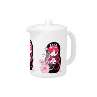Kawaii Pink Panda Bear Matryoshka