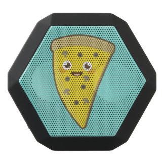 Kawaii Pizza Black Bluetooth Speaker