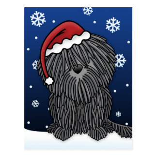 Kawaii Puli Christmas Postcard