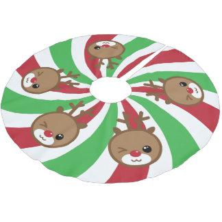Kawaii Reindeer Christmas Tree Skirt