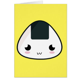 Kawaii Rice ball Card
