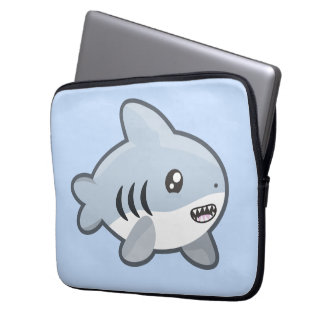 Kawaii Shark Laptop Sleeve