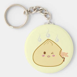 "Kawaii ""SioPao"" Meatbun Attack Basic Round Button Key Ring"