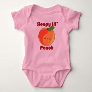 Kawaii sleepy lil' Peach infant creeper