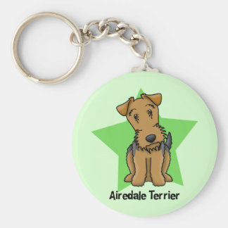 Kawaii Star Airedale Terrier Key Ring