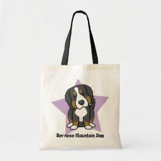 Kawaii Star Bernese Mountain Dog Tote Bag