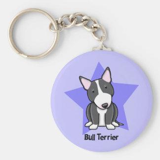 Kawaii Star BW Bull Terrier Key Ring