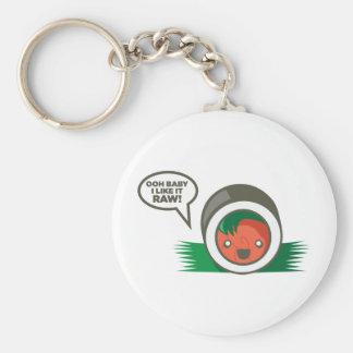 Kawaii Sushi- Ooh Baby I Like it Raw Basic Round Button Key Ring