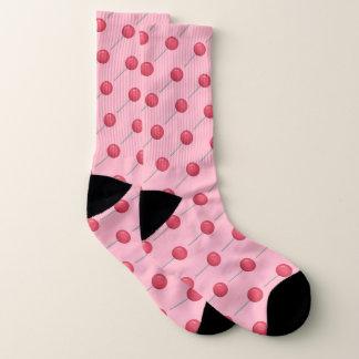 Kawaii sweet candy lover pink Lollipop Socks