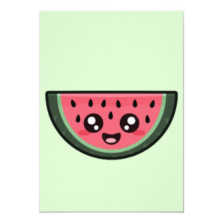 Kawaii Watermelon Card