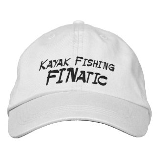 Kayak Fishing Fanatic Embroidered Baseball Cap