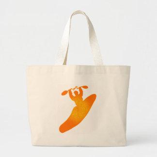 kayak orange crush canvas bag