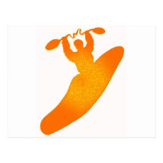 kayak orange crush postcard