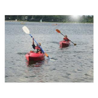 Kayaking Kids Postcard