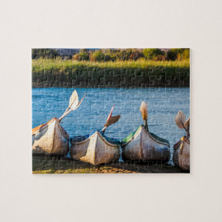 Kayaks on the River Bank Puzzle