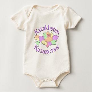 Kazakhstan Map Baby Bodysuit
