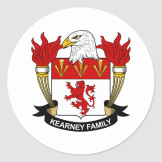 Kearney Family Crest Round Sticker